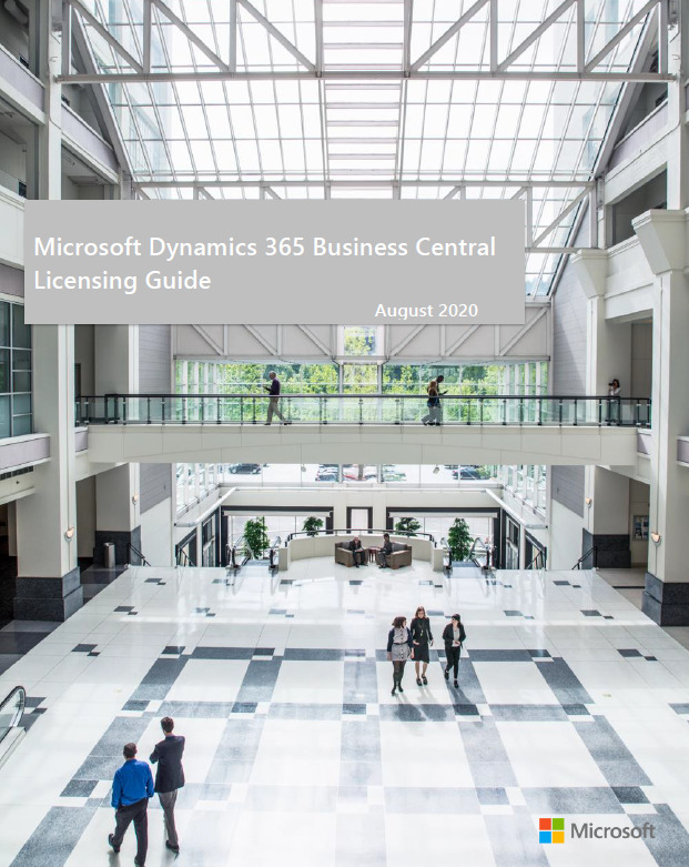 Dynamics 365 Business Central Licensing Guide – August 2020